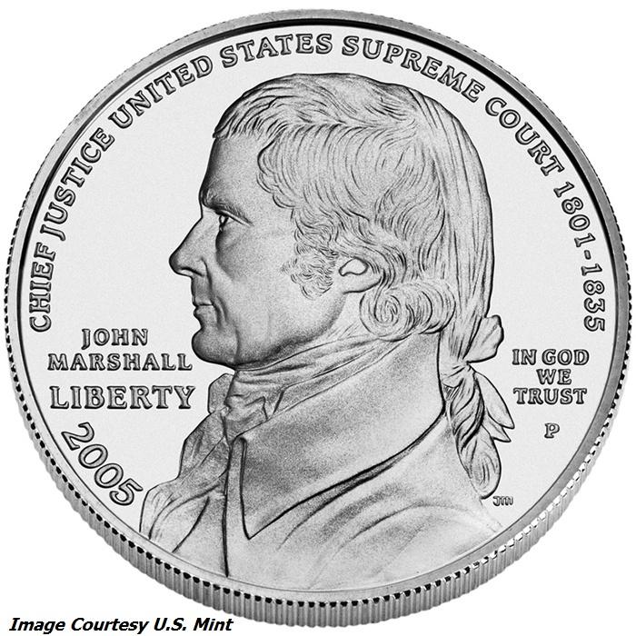 2005 Chief Justice John Marshall Silver Dollar Type Set