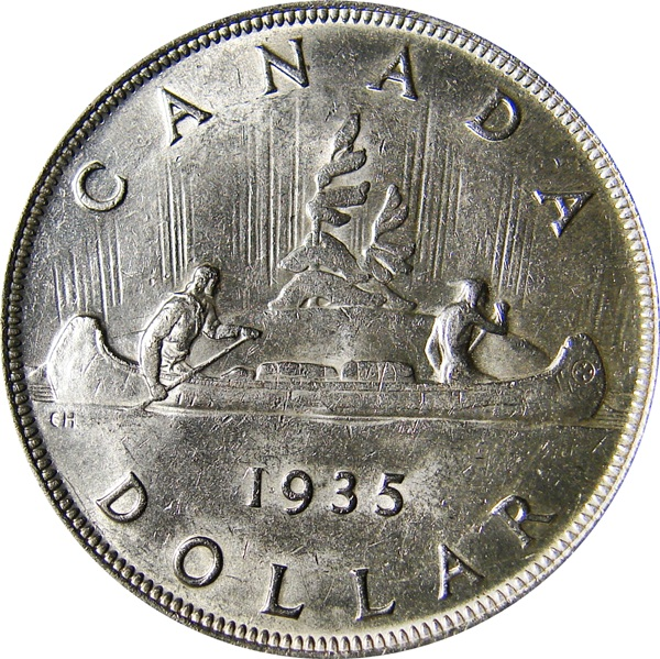Canada 1935 George V 25th Jubilee Voyager Dollar Type