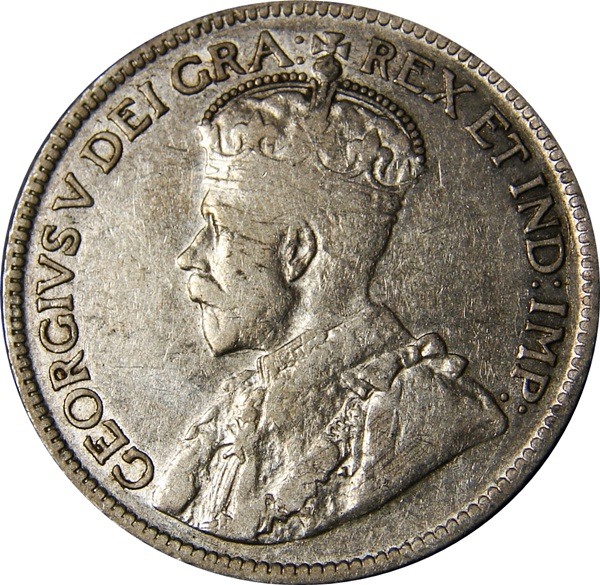 Canada 1911 1936 George V 25 Cents Type Set Coin Collecting
