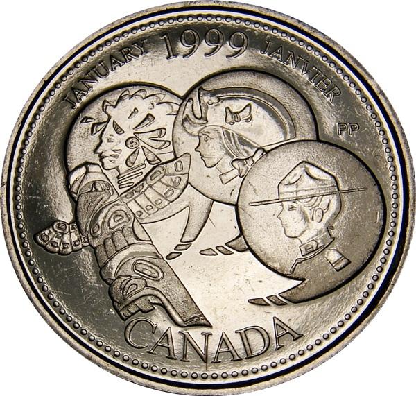 UNCIRCULATED CANADA 2000 COMPLETE MILLENIUM 25 CENTS SET 12 COINS