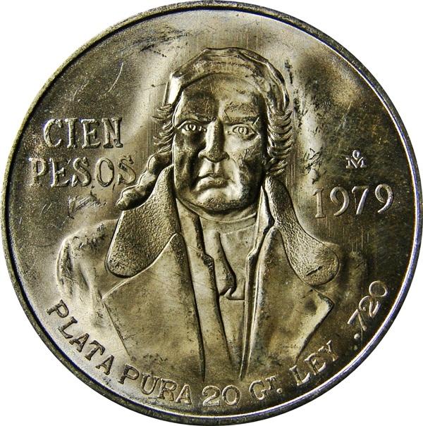 UNC. Roll Of 20 1978 Mexican Silver 100 Peso