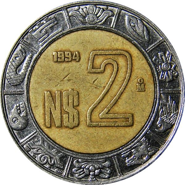 Mexico 2 Pesos 1992 Present Type Set Coin Collecting