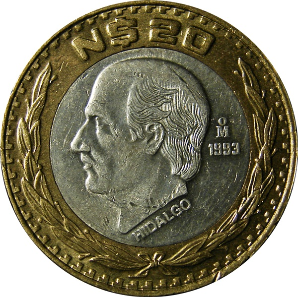 Mexico 20 Pesos Nuevo 1993 1995 Type Set Coin Collecting