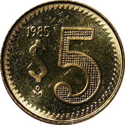 Mexico 5 Pesos 1985 1988 Type Set Coin Collecting