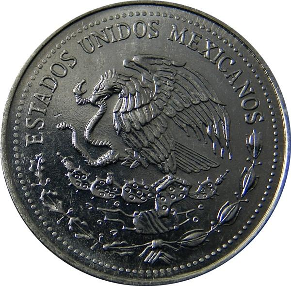 MEXICO MEXICAN 50 CENTAVOS 1983 MAYAN HEAD 22mm steel COIN