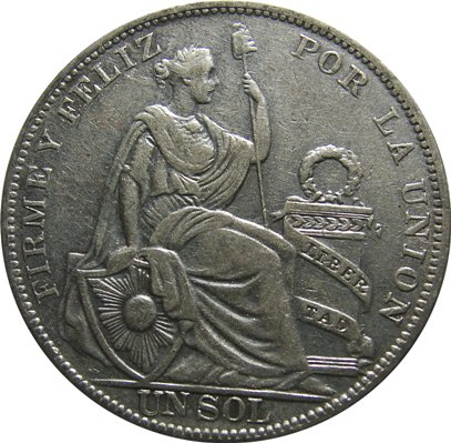 Peru 1864 1935 Un Sol Type Set Coin Collecting