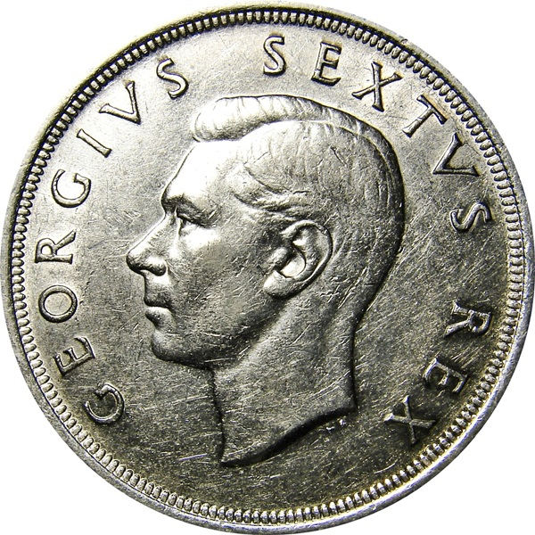 True Market Value >> South Africa: 5 Shillings 1948-1951 George VI - Type Set ...