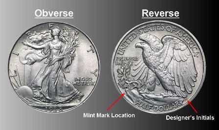 1940-1945 WALKING LIBERTY Half Dollar 90/% SILVER US Mint AVERAGE CIRCULATION