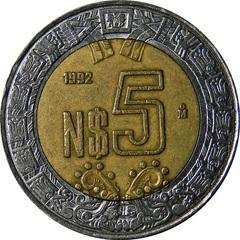Mexico 5 Pesos 1992 Present Type Set Coin Collecting